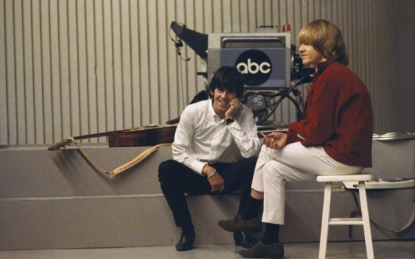 "Keith Richards and Brian Jones of The Rolling Stone at ""Shindig"" taping"