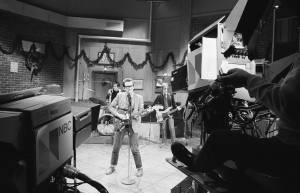 SATURDAY NIGHT LIVE -- Episode 8 -- Aired 12/17/1977 -- Pictured: Musical guest Elvis Costello