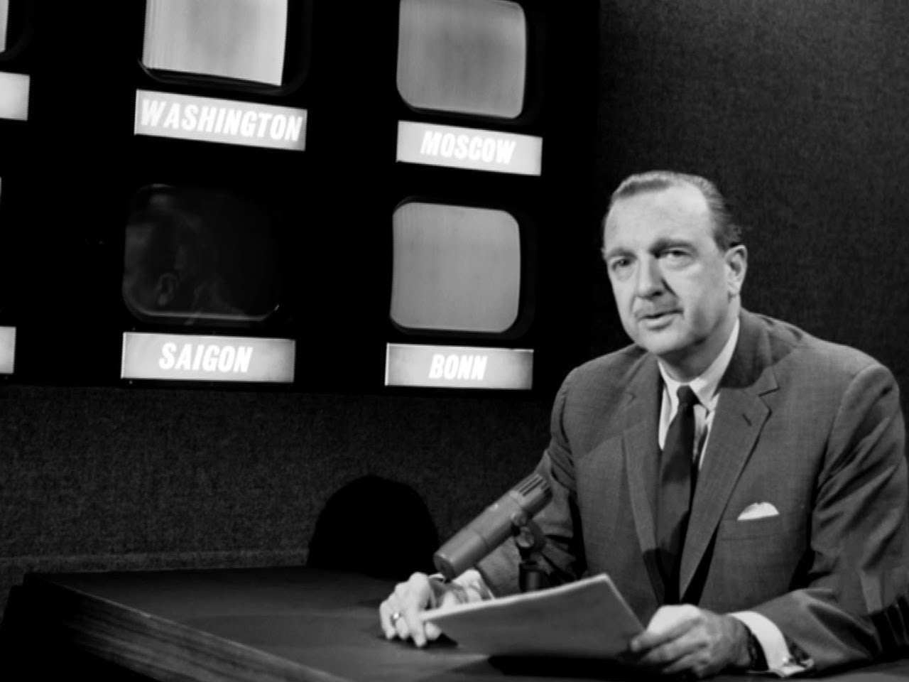 Walter Cronkites First Night As Cbs News Anchorman Eyes Of A