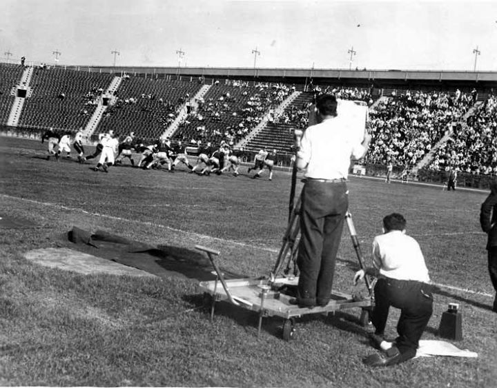 September 30 1939First Televised Football Game Broadcast By NBC Eyes Of A GenerationTelevisions Living History