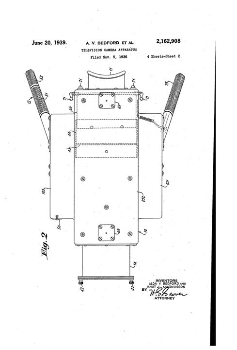 The 1937 Rca Iconoscope Camera  Patent Diagrams  U2013 Eyes Of